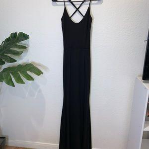Small black maxi dress NEVER WORN